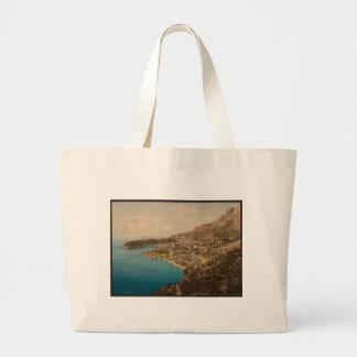 Ideia geral do principado, Monaco, Riviera Sacola Tote Jumbo