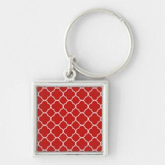 Ideia inteligente do brilho honesto chaveiro quadrado na cor prata