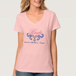 Ideia nupcial do design do t-shirt do casamento do camiseta