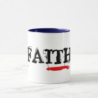 ideia religiosa do presente do café da caneca do