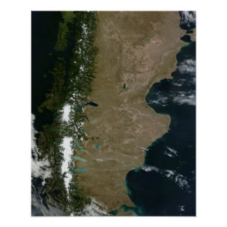 Ideia satélite da região do Patagonia