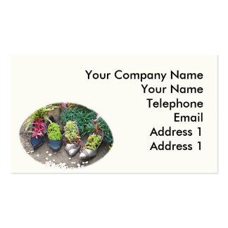 Ideias de jardinagem inovativas cartão de visita
