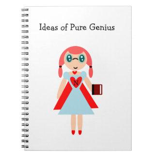 Ideias do caderno super do nerd do gênio puro