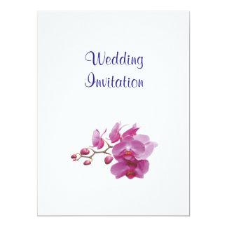 Ideias elegantes simples modernas do casamento da convite 16.51 x 22.22cm