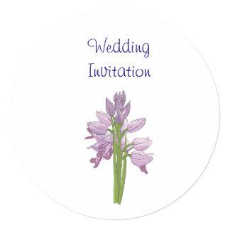 Ideias elegantes simples modernas do casamento da convite quadrado 13.35 x 13.35cm