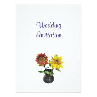 Ideias elegantes simples modernas do casamento do convite 16.51 x 22.22cm