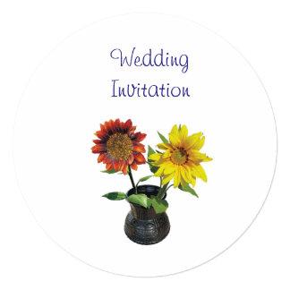 Ideias elegantes simples modernas do casamento do convite quadrado 13.35 x 13.35cm