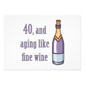Ideias engraçadas do presente de aniversário de 40 convite personalizados