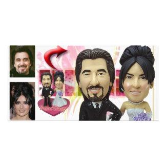 Ideias personalizadas dos presentes de casamento cartão com foto
