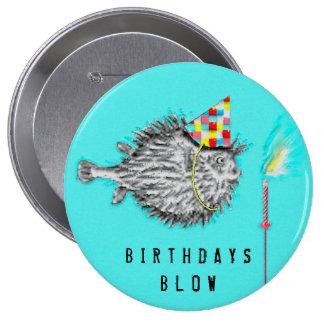 ideias pesca-temáticos da festa de aniversário bóton redondo 10.16cm