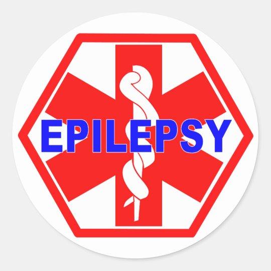 IDENTIFICAÇÃO MÉDICA DA EPILEPSIA ADESIVO REDONDO
