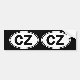 Identificação oval da CZ Adesivo Para Carro