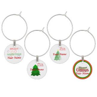 Identificador De Taças Encantos do vidro de vinho do Natal