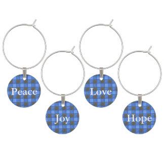 Identificador De Taças Grupo azul do encanto do vinho da verificação