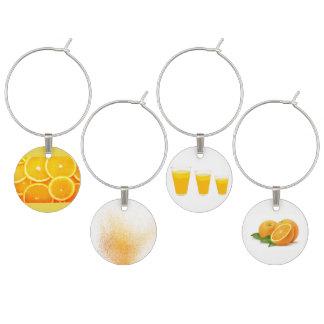 Identificador De Taças Grupo de quatro pinturas do sumo de laranja