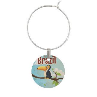Identificador De Taças Mosca do vintage ao poster de viagens de Brasil