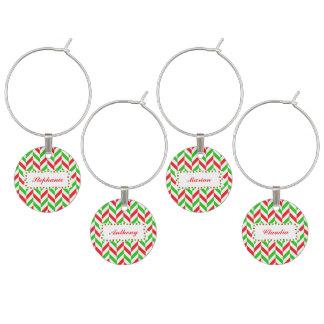 Identificador De Taças Natal vermelho e verde do teste padrão de