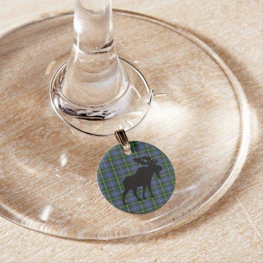 Identificador De Taças O vinho do Natal do Tartan de Nova Escócia encanta