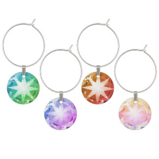 Identificador De Taças Olhar colorido da faísca do cristal de rocha do
