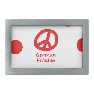 Idioma alemão e design do símbolo de paz