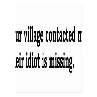 Idiota da vila cartão postal
