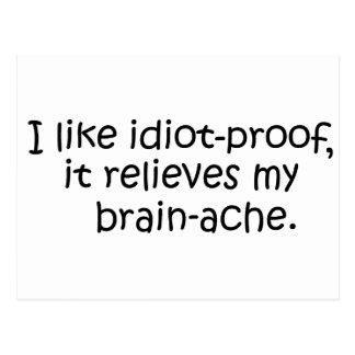 Idiota-Prova, cartão