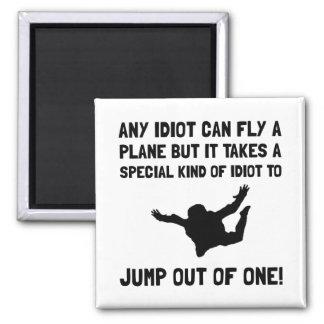 Idiota Skydiving Imã