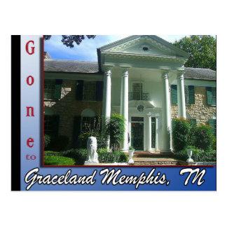 Ido a Graceland Memphis, cartão do TN