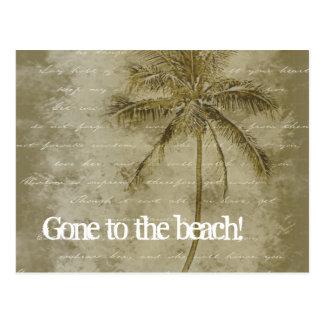 Ido à praia! Mudança de cartão de endereço