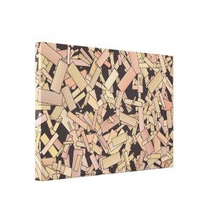 Ido às canvas das partes impressão de canvas envolvida