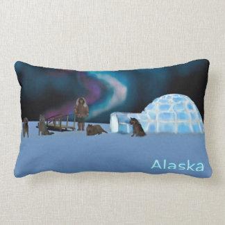 Iglu e aurora boreal - Alaska Almofada Lombar