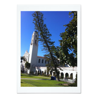 Igreja & árvore curvada convite 11.30 x 15.87cm