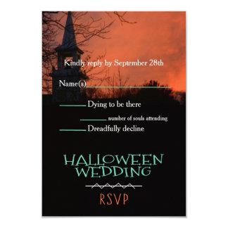 Igreja assustador o Dia das Bruxas que Wedding o Convite 8.89 X 12.7cm