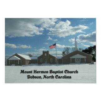 IGREJA BAPTISTA DOBSON do MONTE HERMON, North Convite 12.7 X 17.78cm