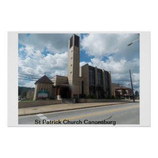 Igreja Canonsburg de St Patrick Poster