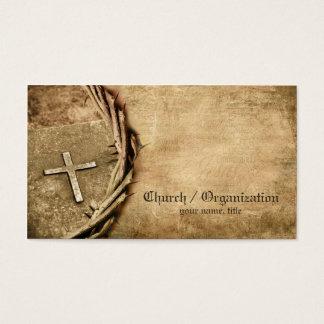 Igreja/cartão de visita transversal envelhecido cartão de visitas