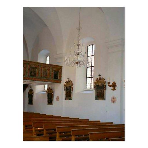Igreja Católica com estações da cruz Cartoes Postais