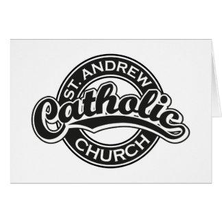 Igreja Católica de St Andrew preto e branco Cartões