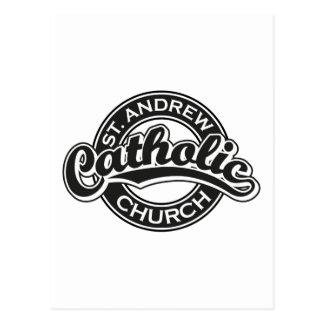 Igreja Católica de St Andrew preto e branco Cartão Postal