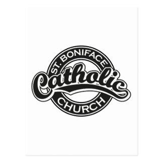 Igreja Católica de St Boniface preto e branco Cartões Postais
