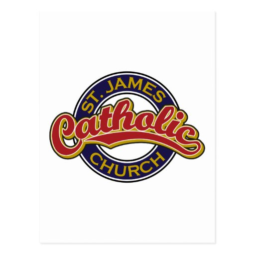 Igreja Católica de St James Cartoes Postais