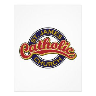 Igreja Católica de St James Modelos De Papel De Carta