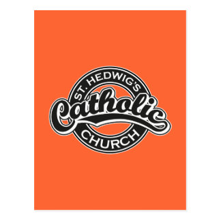 Igreja Católica do St. Hedwig preto e branco Cartão Postal