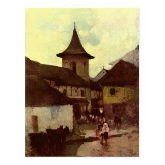 Igreja Católica em Cimpulung por Nicolae Cartão Postal