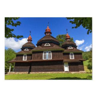 Igreja Católica grega, Nizny Komarnik, Slovakia Convite 12.7 X 17.78cm