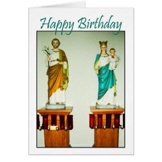 Igreja Católica santamente dos anjos - cartão do f