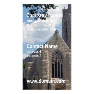 Igreja da catedral modelos cartoes de visitas