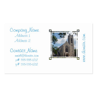 Igreja da catedral modelo cartoes de visita