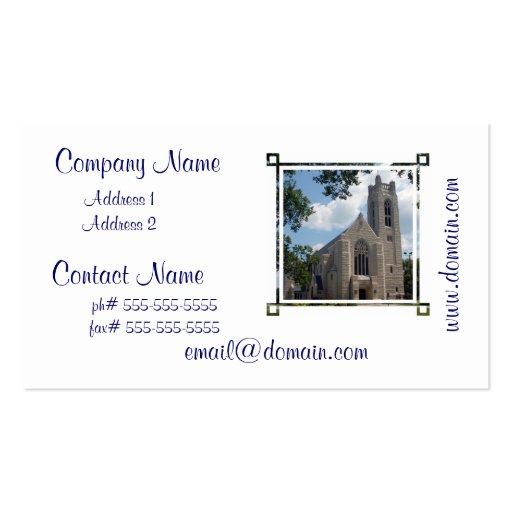 Igreja da catedral modelo cartões de visitas