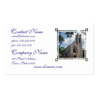 Igreja da catedral cartoes de visitas